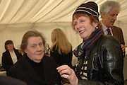 Catherine Viscountess Macmillan and Penny Graham. Ludlow Charity Race Day,  in aid of Action Medical Research. Ludlow racecourse. 24 march 2005. ONE TIME USE ONLY - DO NOT ARCHIVE  © Copyright Photograph by Dafydd Jones 66 Stockwell Park Rd. London SW9 0DA Tel 020 7733 0108 www.dafjones.com