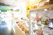 Cupcake bakery. Interior of the outlet store