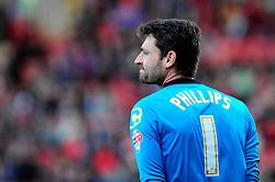Crewe Alexandra's Steve Phillips - Photo mandatory by-line: Dougie Allward/JMP - Tel: Mobile: 07966 386802 19/10/2013 - SPORT - FOOTBALL - Alexandra Stadium - Crewe - Crewe V Bristol City - Sky Bet League One