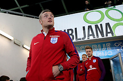 Jamie Vardy of England arrives at The SRC Stozice Stadium ahead of the World Cup Qualifier against Slovenia - Mandatory by-line: Robbie Stephenson/JMP - 10/10/2016 - FOOTBALL - SRC Stozice - Ljubljana, England - England Press Conference