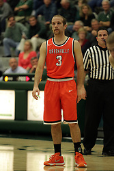 17 November 2015:  Brian Ehresman during an NCAA men's division 3 CCIW basketball game between the Greenville College Panthers and the Illinois Wesleyan Titans in Shirk Center, Bloomington IL