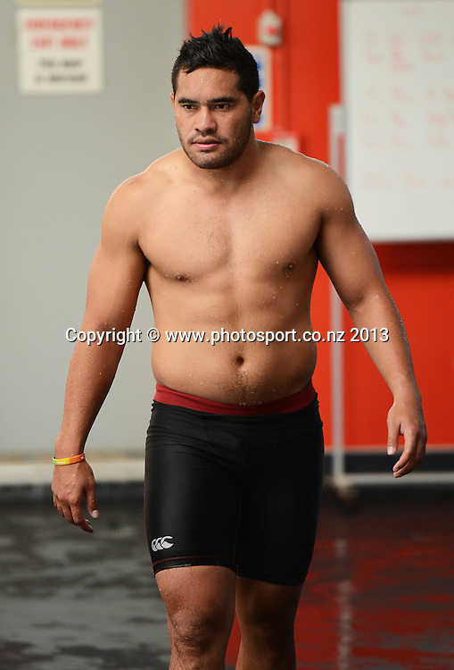 Konrad Hurrell. Vodafone Warriors Pool Recovery session. Lagoon Leisure and Fitness, Panmure, Auckland. Tuesday 2 April 2013. Photo: Andrew Cornaga/Photosport