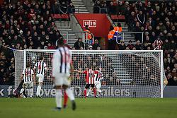 Goal, Dusan Tadic of Southampton scores, Southampton 3-0 West Bromwich Albion - Mandatory by-line: Jason Brown/JMP - 07966386802 - 16/01/2016 - FOOTBALL - Southampton, St Mary's Stadium - Southampton v West Bromwich Albion - Barclays Premier League