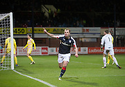 Dundee&rsquo;s Paul McGowan celebrates after scoring the Dark Blues' equaliser - Dundee v Hearts in the Ladbrokes Scottish Premiership at Dens Park, Dundee. Photo: David Young<br /> <br />  - &copy; David Young - www.davidyoungphoto.co.uk - email: davidyoungphoto@gmail.com