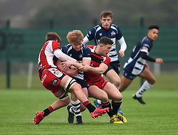 Josh Wright (Millfield School) of Bristol Rugby Academy U18 - Mandatory by-line: Paul Knight/JMP - 11/02/2017 - RUGBY - SGS Wise Campus - Bristol, England - Bristol Academy v Gloucester Academy - Premiership Rugby Academy U18 League