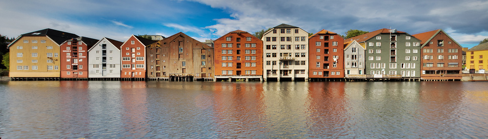 The waterfront buildings in Trondheim have a unique look and feel.