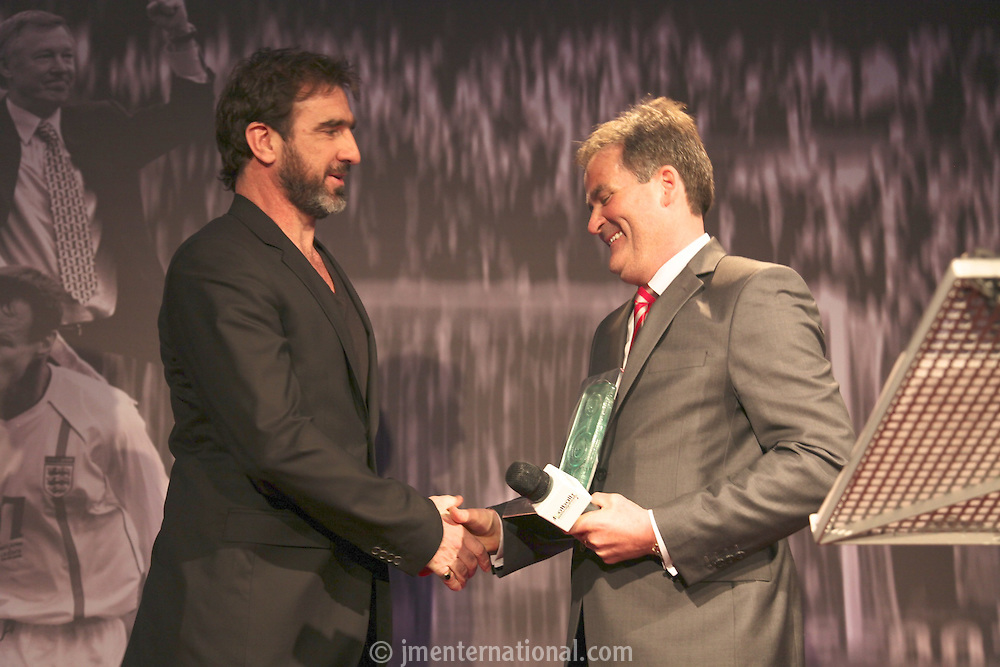 The Football Extravaganza, Eric Cantona receives the Legend of Football Award in aid of Nordoff Robbins..Monday, April.12, 2010. (Photo/John Marshall JME)