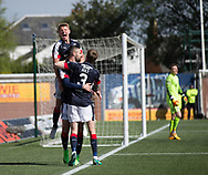 Dundee&rsquo;s Kevin Holt and Mark O&rsquo;Hara congratulate Marcus Haber on his winning goal - Kilmarnock v Dundee in the Ladbrokes Scottish Premiership at Rugby Park, Kilmarnock, Photo: David Young<br /> <br />  - &copy; David Young - www.davidyoungphoto.co.uk - email: davidyoungphoto@gmail.com