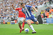 Wigan Striker Yanic Wildschut during the Sky Bet League 1 match between Wigan Athletic and Barnsley at the DW Stadium, Wigan, England on 8 May 2016. Photo by John Marfleet.