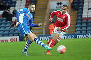 Michael Rose, Louis Thompson during the The FA Cup match between Rochdale and Swindon Town at Spotland, Rochdale, England on 7 November 2015. Photo by Daniel Youngs.