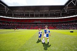 Bristol Rovers mascots warm up on the famous Wembley turf - Photo mandatory by-line: Rogan Thomson/JMP - 07966 386802 - 17/05/2015 - SPORT - FOOTBALL - London, England - Wembley Stadium - Bristol Rovers v Frimsby Town - Vanarama Conference Premier Play-off Final.