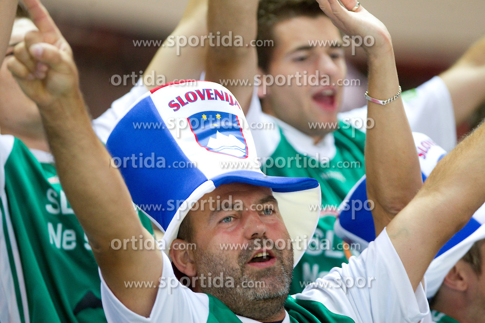 Fans of Slovenia  during basketball match between National teams of Ukraine and Slovenia in Group D of Preliminary Round of Eurobasket Lithuania 2011, on September 1, 2011, in Arena Svyturio, Klaipeda, Lithuania. Slovenia defeated Ukraine 68 - 64. (Photo by Vid Ponikvar / Sportida)