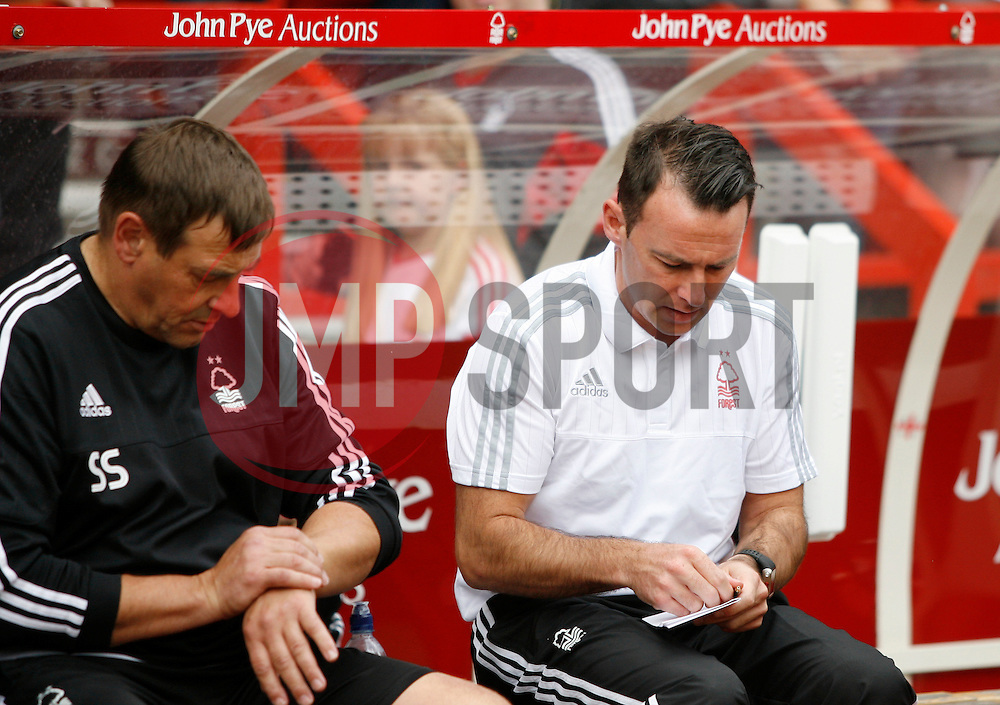 Nottingham Forest Head Coach, Dougie Freedman (R) before the match<br /> <br />  - Mandatory by-line: Jack Phillips/JMP - 25/07/2015 - SPORT - FOOTBALL - Nottingham - The City Ground - Nottingham Forest v Swansea - Pre-Season Friendly