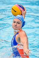 24-07-2017: Waterpolo: Nieuw Zeeland v Nederland: Boedapest<br /> <br /> (L-R) Maud Megens of team Netherlands during the waterpolomatch between women New Zealand and Netherlands at the 17th FINA World Championships 2017 in Budapest, Hungary<br /> <br /> Photo / Foto: Gertjan Kooij