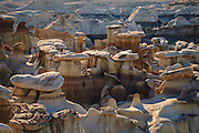 Hoodoos in the Bisti Badlands, Bisti/De-Na-Zin Wilderness, New Mexico.