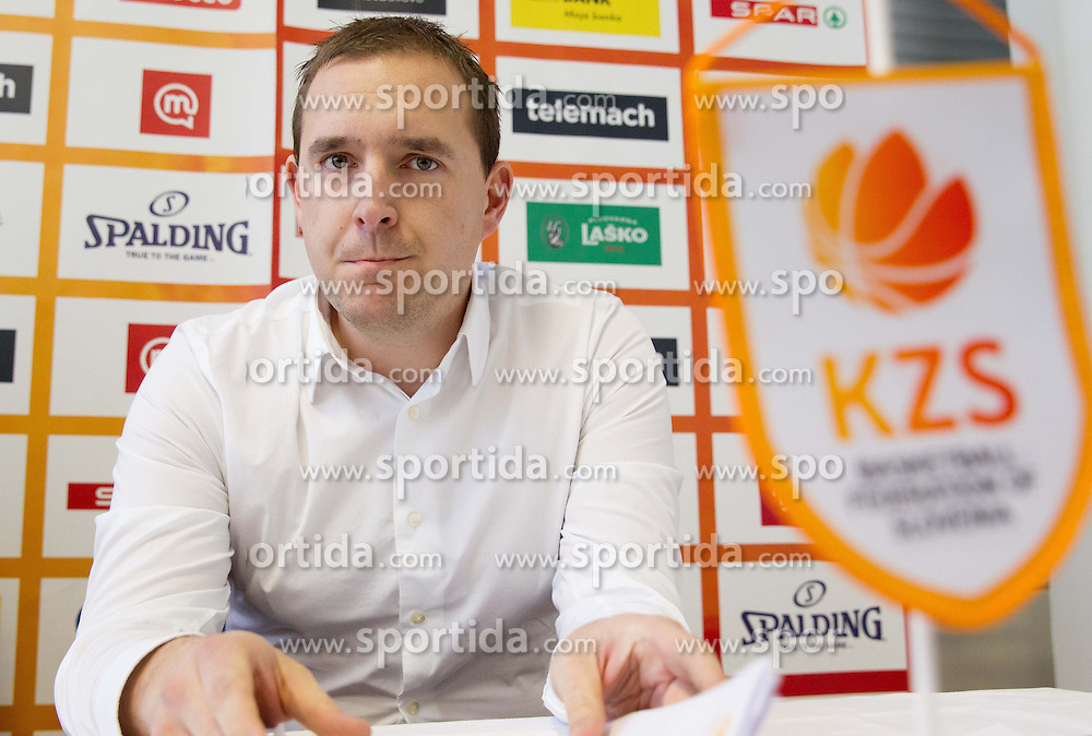 Matej Avanzo during press conference of Basketball Federation of Slovenia on February 10, 2013 in Arena Golovec, Celje, Slovenia. (Photo By Vid Ponikvar / Sportida)