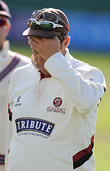 Somerset captain Marcus Trescothick looks down after Hampshire saved the game.   - Mandatory byline: Alex Davidson/JMP - 07966386802 - 12/09/2015 - CRICKET - The County Ground -Taunton,England - Somerset CCC v Hampshire CCC - Day 4