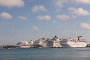 Cruise ships docked at Prince George Wharf, Nassau, Bahamas, Caribbean