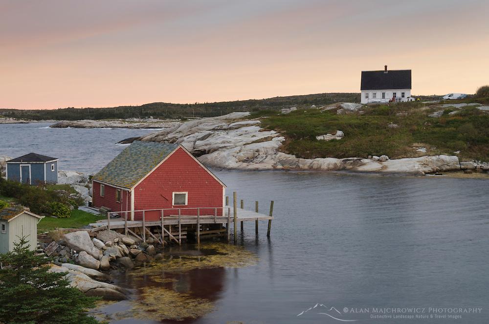 Fisherman's shacks at Peggy's Cove Nova Scotia