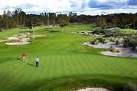 WASSENAAR  (NETH.) - green hole 1 (r) en hole 3. Golfclub Groendael in Wassenaar. COPYRIGHT KOEN SUYK