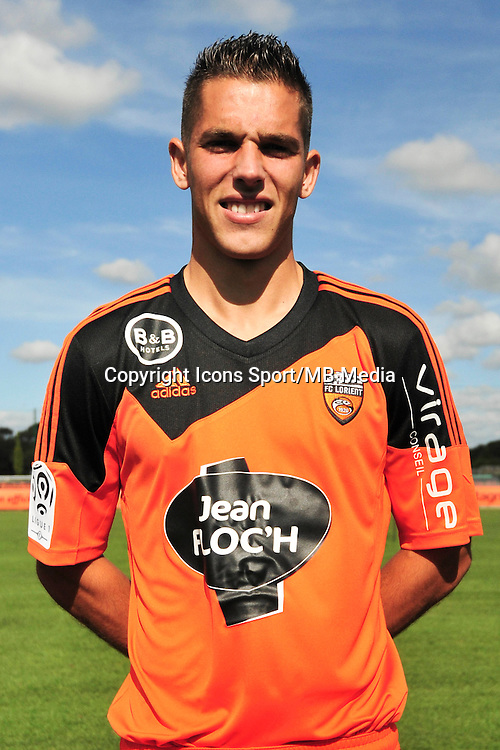 Maxime Barthelme - 25.09.2014 - Photo officielle Lorient - Ligue 1 2014/2015<br /> Photo : Philippe Le Brech / Icon Sport