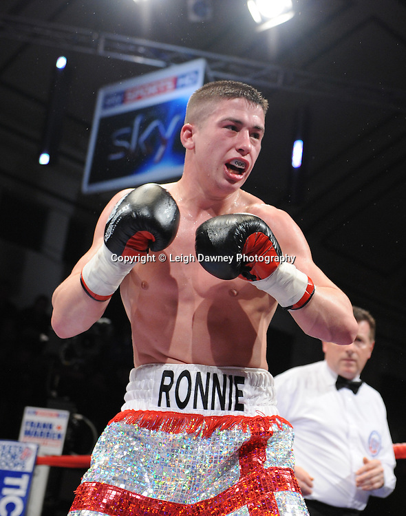 Welterweight Ronnie Heffron (pictured) defeats Kevin McCauley at York Hall, Bethnal Green, London on the 19th February 2011. Frank Warren Promotions. Photo credit © Leigh Dawney.