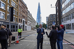 © Licensed to London News Pictures. 04/06/2017. London, UK. Former Deputy Commissioner of the Metropolitan Police Brian Paddick gives an interview.  Police cordons continue to be in place around London Bridge after the previous night's terrorist attack where a reported three attackers were shot by the police and seven members of the public died after being attacked with knives.  Photo credit : Stephen Chung/LNP