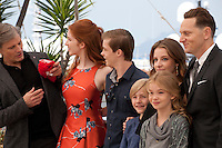 Actor Viggo Mortensen, actress Annalise Basso, actor Nicholas Hamilton,  actor Charlie Shotwell, actress Samantha Isler, actress Shree Crooks and director Matt Ross at the Captain Fantastic film photo call at the 69th Cannes Film Festival Tuesday 17th May 2016, Cannes, France. Photography: Doreen Kennedy