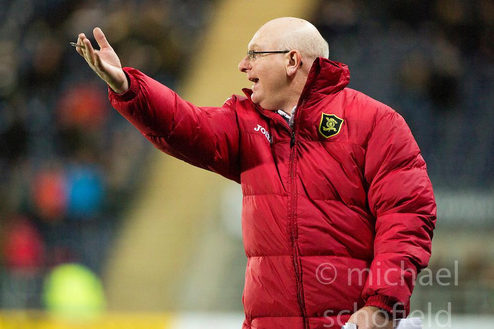Livingston manager John McGlynn. <br /> Falkirk 0 v 0  Livingston, Scottish Championship game played 21/10/2014 at The Falkirk Stadium.