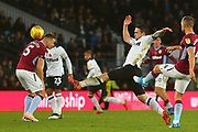 Derby County forward Jack Marriott (14) attempt to intercept a pass during the EFL Sky Bet Championship match between Derby County and Aston Villa at the Pride Park, Derby, England on 10 November 2018.