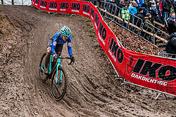 Chiara TEOCCHI of Italy descending during the Women Under 23 race, UCI Cyclo-cross World Championships at Valkenburg, the Netherlands, 3 February 2018. Photo by Pim Nijland / PelotonPhotos.com | All photos usage must carry mandatory copyright credit (Peloton Photos | Pim Nijland)