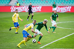 Stefan Savic of NK Olimpija Ljubljana during football match between NK Olimpija Ljubljana and NK Celje in 1st leg match in Semifinal of Slovenian cup 2017/2018, on April 4, 2018 in SRC Stozice, Ljubljana, Slovenia. Photo by Urban Urbanc / Sportida