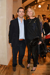 GAVIN & FIONA McALPINE at a party to celebrate the publication of 'Inspire: The Art of Living With Nature' by Willow Crossley held at Anthropologie, 131-141 Kings Road, London on 13th March 2014.