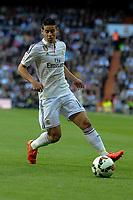 Real Madrid´s James Rodriguez during 2014-15 La Liga match between Real Madrid and Malaga at Santiago Bernabeu stadium in Madrid, Spain. April 18, 2015. (ALTERPHOTOS/Luis Fernandez)