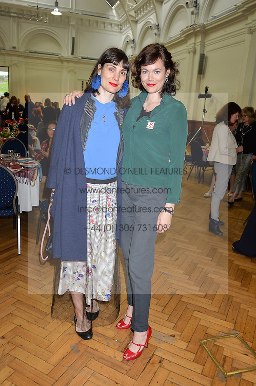 Left to right, MARIA KASTANI and JASMINE GUINNESS at a lunch in aid of the charity African Solutions to African Problems (ASAP) held at the Royal Horticultural Hall, Vincent Square, London on 19th May 2016.