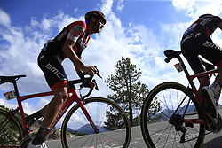 Damiano Caruso (ITA) BMC Racing Team climbs through the Caisse Deserte on Col d'Izoard during Stage 18 of the 104th edition of the Tour de France 2017, running 179.5km from Briancon to the summit of Col d'Izoard, France. 20th July 2017.<br /> Picture: Eoin Clarke | Cyclefile<br /> <br /> All photos usage must carry mandatory copyright credit (© Cyclefile | Eoin Clarke)