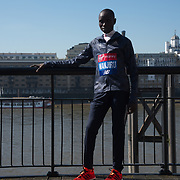 Elite meDaniel Wanjiru - Elite men photocall - Virgin Money London Marathon at Tower Hill on 19 April 2018, London, UK. photocall - Virgin Money London Marathon, London, UK
