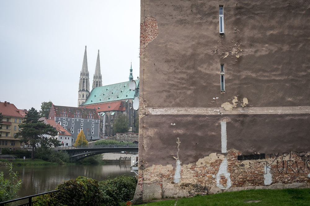 Germany - Deutschland - Saxony - Sachsen after the federal elections - AFD / the town Görlitz on the German-Polish border seen from the polish side of the river Neisse; Görlitz , Saxony, 26.09.2017; © Christian Jungeblodt