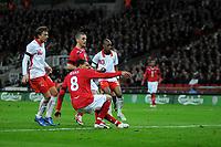 Photo: Tony Oudot/Richard Lane Photography. <br /> England v Switzerland. International Friendly. 06/02/2008.<br /> Jermaine Jenas scores the first goal for England