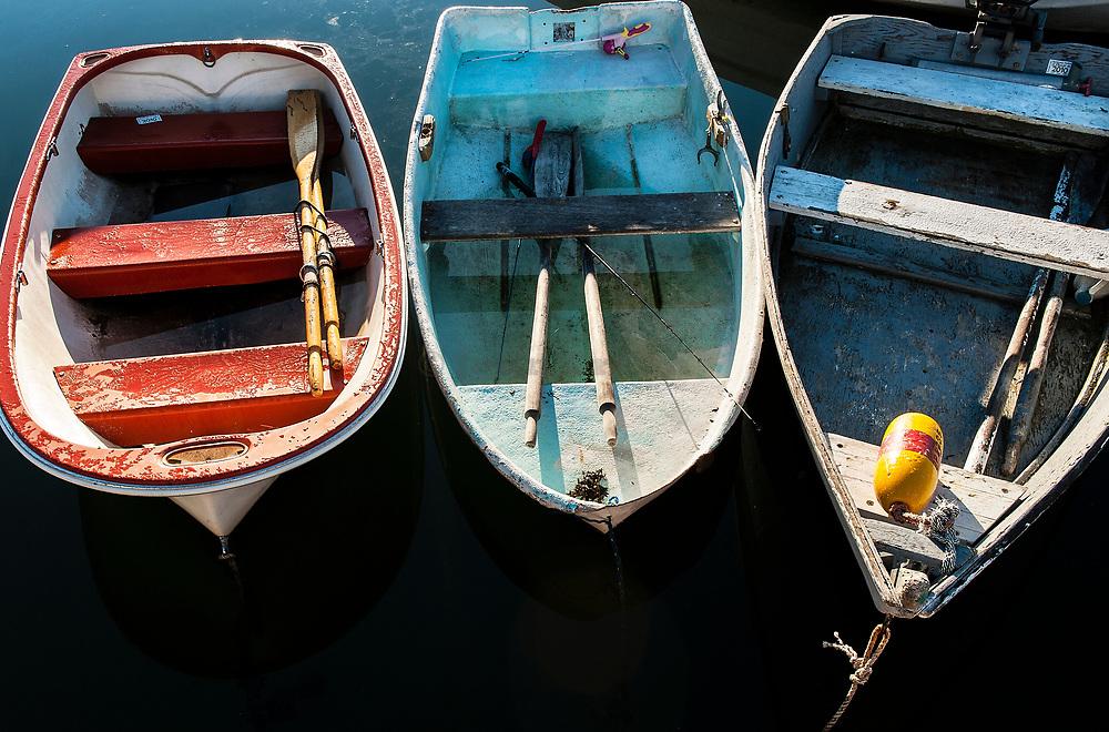 Rowboats, Maine, USA.