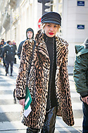 Leopard Coat, Outside Lacoste FW2018
