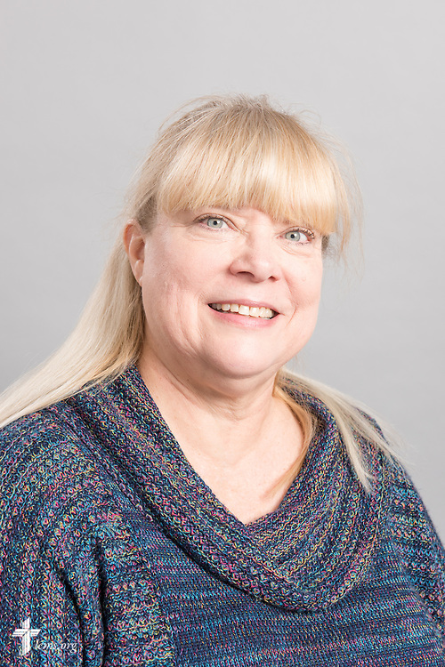 Headshot photograph of Barb Hoffmann at the International Center of The Lutheran Church–Missouri Synod studio on Friday, March 27, 2015. LCMS Communications/Erik M. Lunsford