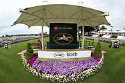 The Winners Rostrum prior to racing at York Racecourse, York, United Kingdom on 26 May 2018. Picture by Mick Atkins.