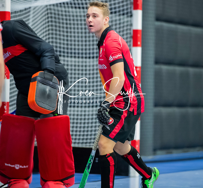 ROTTERDAM  - NK Zaalhockey,   halve finale heren Oranje Rood-SCHC (SCHC wint en plaatst zich voor de finale)  .<br /> Max Kuijpers (OR) .COPYRIGHT KOEN SUYK