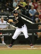 Jul 10, 2013; Phoenix, AZ, USA;  Arizona Diamondbacks outfielder Cody Ross (7) at bat against the Los Angeles Dodgers at Chase Field.  The Dodgers defeated the Diamondbacks 7-5 in extra innings.  Mandatory Credit: Jennifer Stewart-USA TODAY Sports