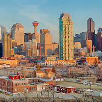 Calgary Cityscape Sunrise