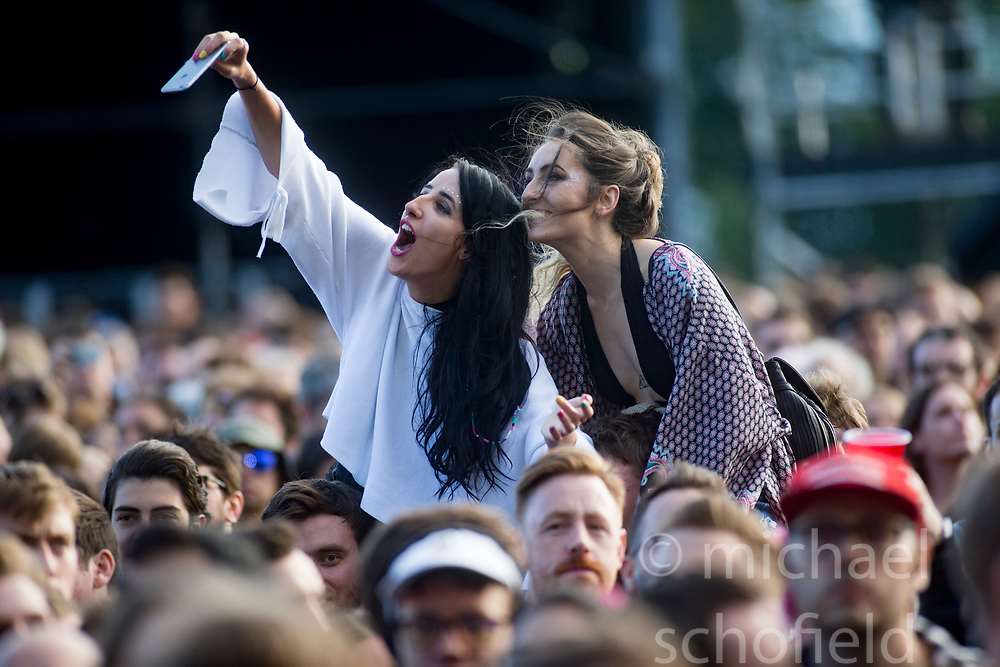 The crowd as Belle and Sebastian play on the main stage, Friday at TRNSMT music festival, Glasgow Green.