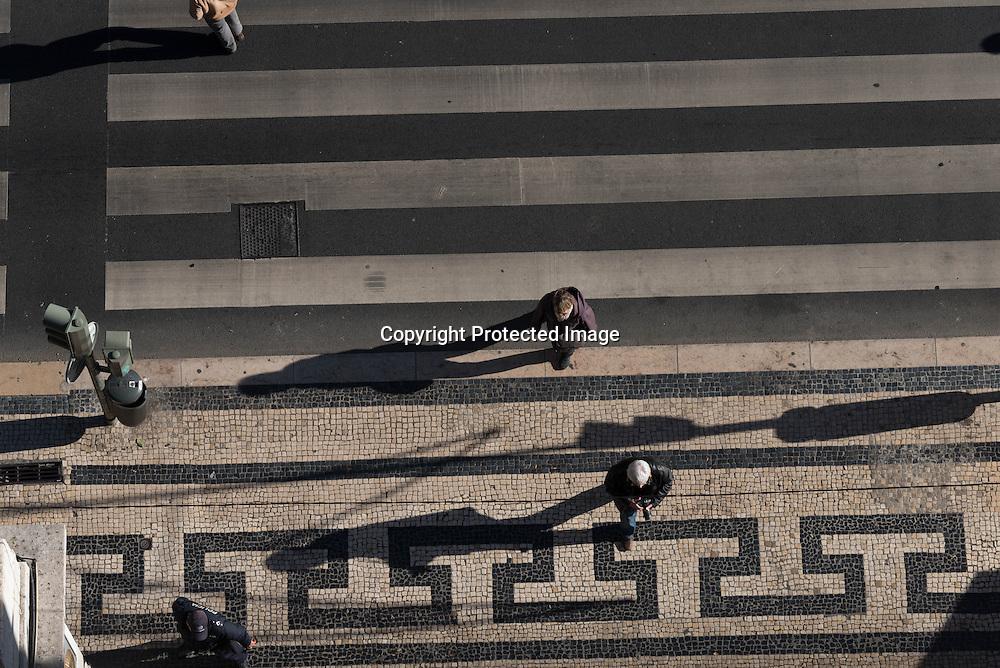 Portugal. Lisbon. Baixa district , view from above / le quartier de Baixa vu d'en haut