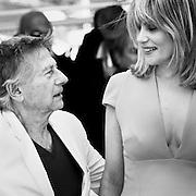 "Black & White Portrait ""Roman Polanski and Emmanuelle Seigner"" during the 66th Annual Cannes Film Festival"