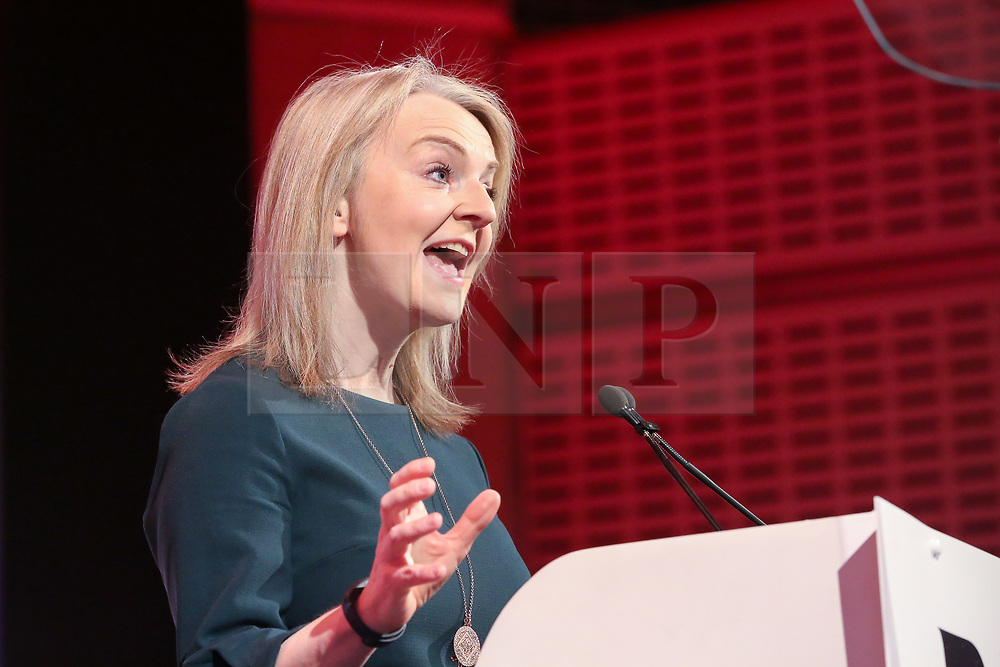 © Licensed to London News Pictures. 28/03/2019. London, UK. Liz Truss MP - Chief Secretary to the Treasury speaking at the British Chambers of Commerce (BCC) Annual Conference. British Chambers of Commerce Annual Conference brings together the UK Chamber Network including  business decision-makers, policy makers and the Chamber network aiming to emphasise the positive role that companies play in stabilising the British economy in a time of Brexit, uncertainty and change. Photo credit: Dinendra Haria/LNP